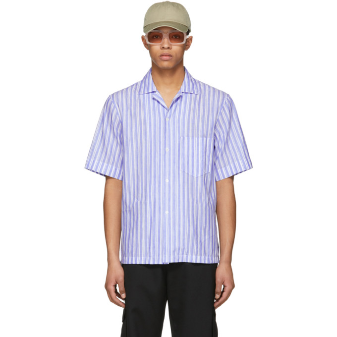 Acne Studios Blue & White Elms Chamb Shirt