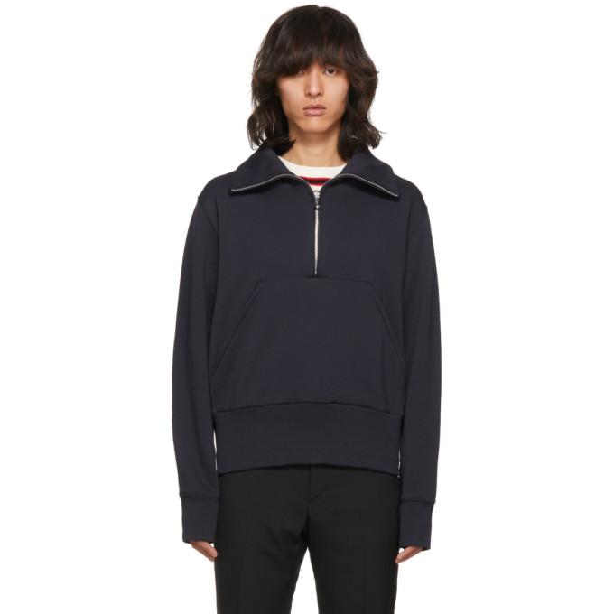 Acne Studios Navy Fullery Zip Sweatshirt