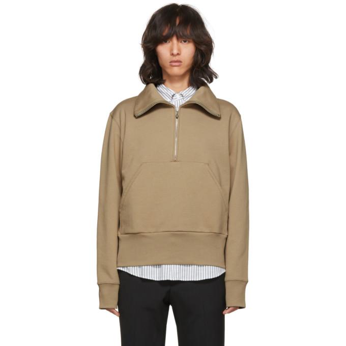 Acne Studios Green Fullery Zip Sweatshirt