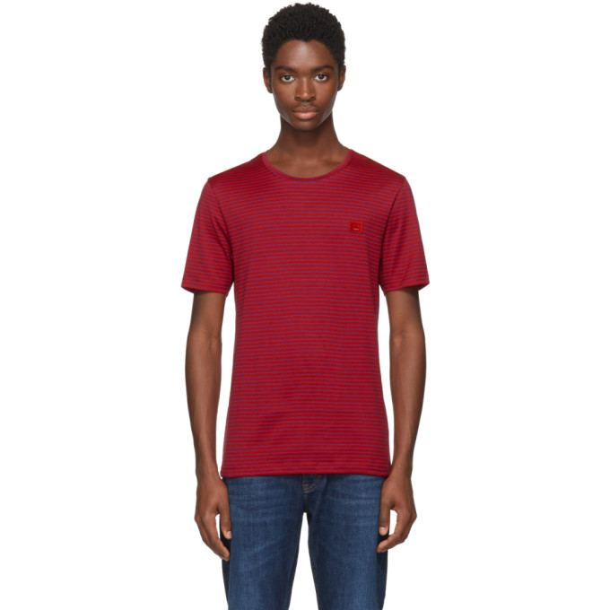 Acne Studios Red & Blue Nele Face T-Shirt