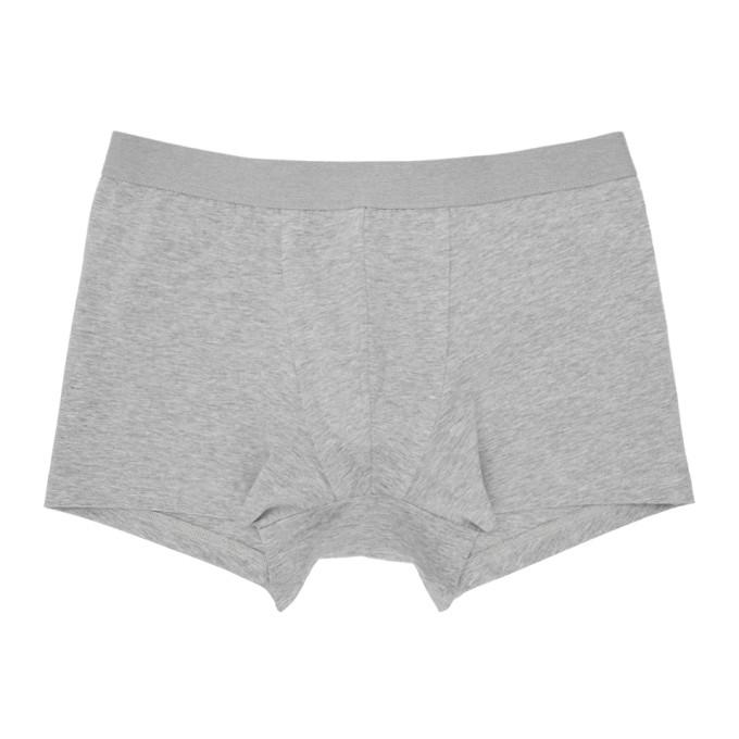 Acne Studios Boxer en coton gris Konrad