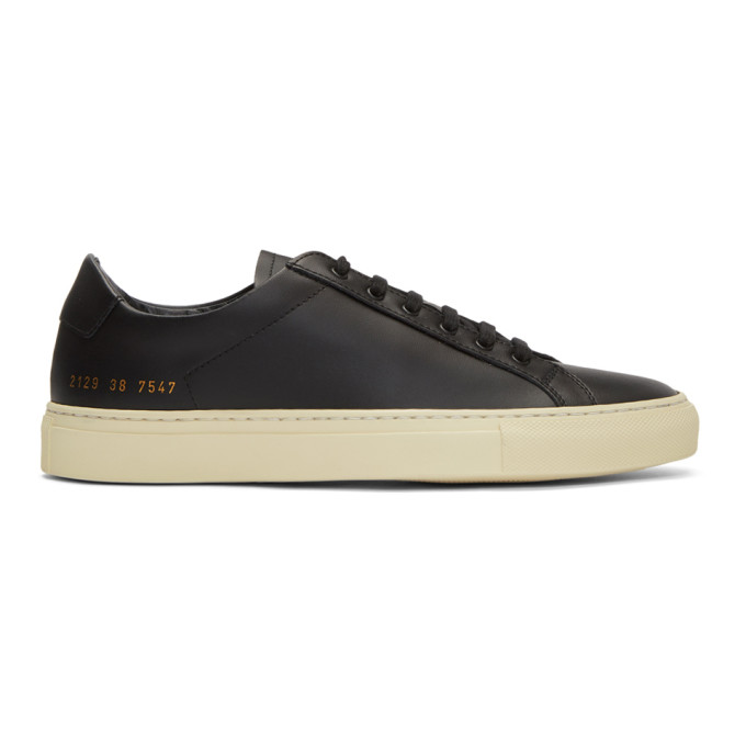 Image of Common Projects Black & Off-White Achilles Retro Low Sneakers