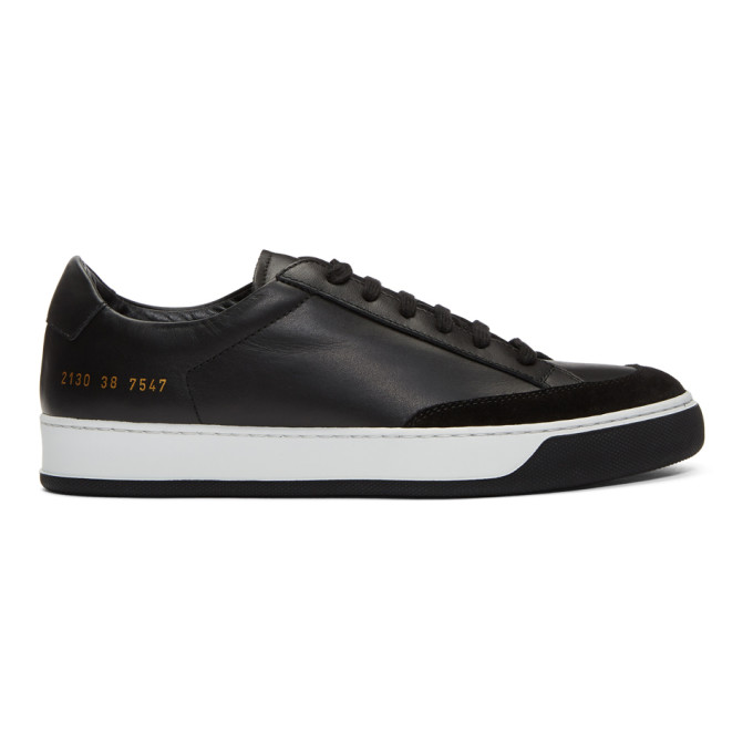 Image of Common Projects Black Tennis Pro Sneakers