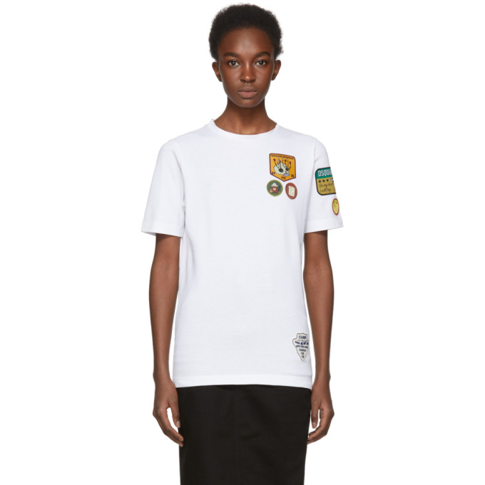 Dsquared2 White Patch T-Shirt