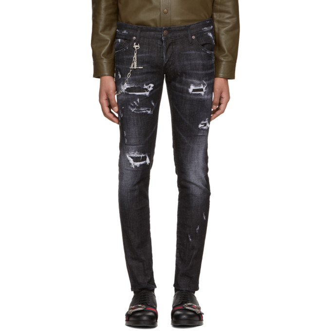Dsquared2 Black Regular Clement Jeans