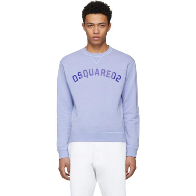 Dsquared2 Blue Crack Print Dan Sweatshirt