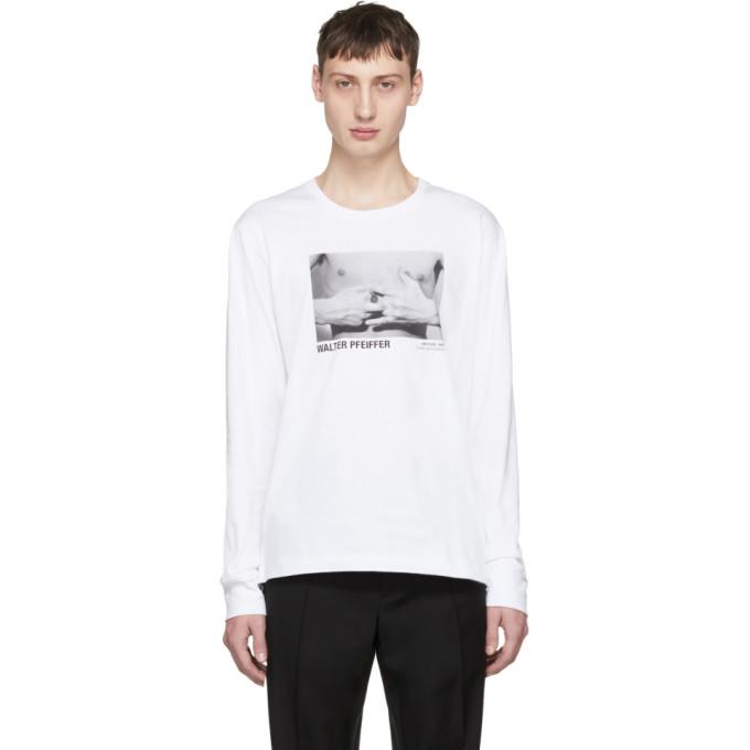 Helmut Lang White Walter Pfeiffer Edition Long Sleeve Hands 1984 T-Shirt