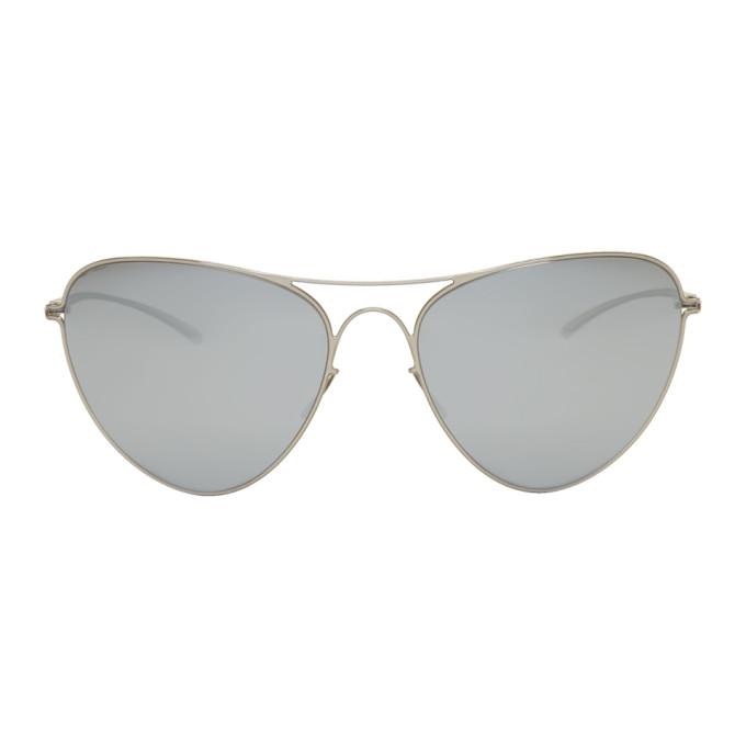 Maison Margiela Silver Mykita Edition MMESSE015 Aviator Sunglasses