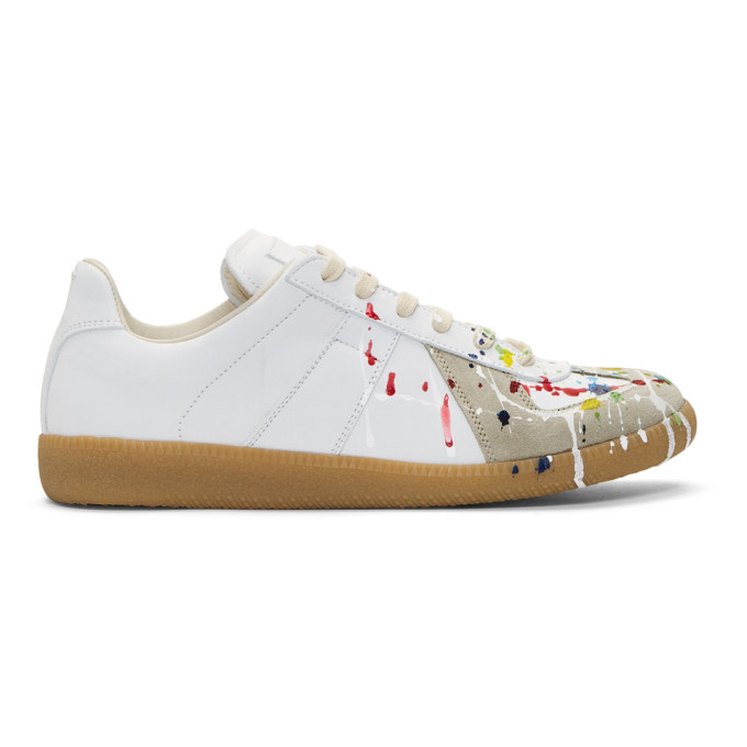 Maison Margiela White Paint Splatter Replica Sneakers