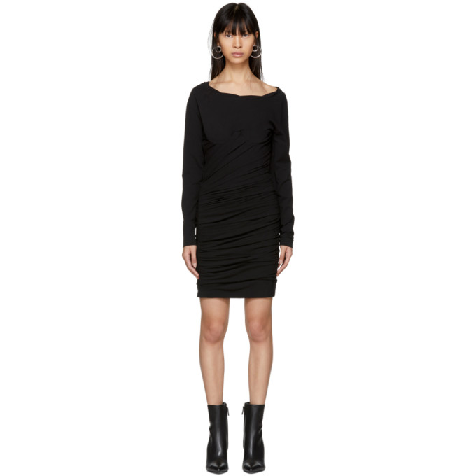 Alexander Wang Black Constructed Corset Mini Dress