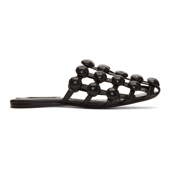 Image of Alexander Wang Black Amelia Slides