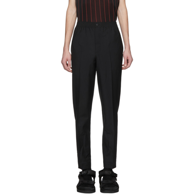 Alexander Wang Black Wool & Mohair Tailored Trousers