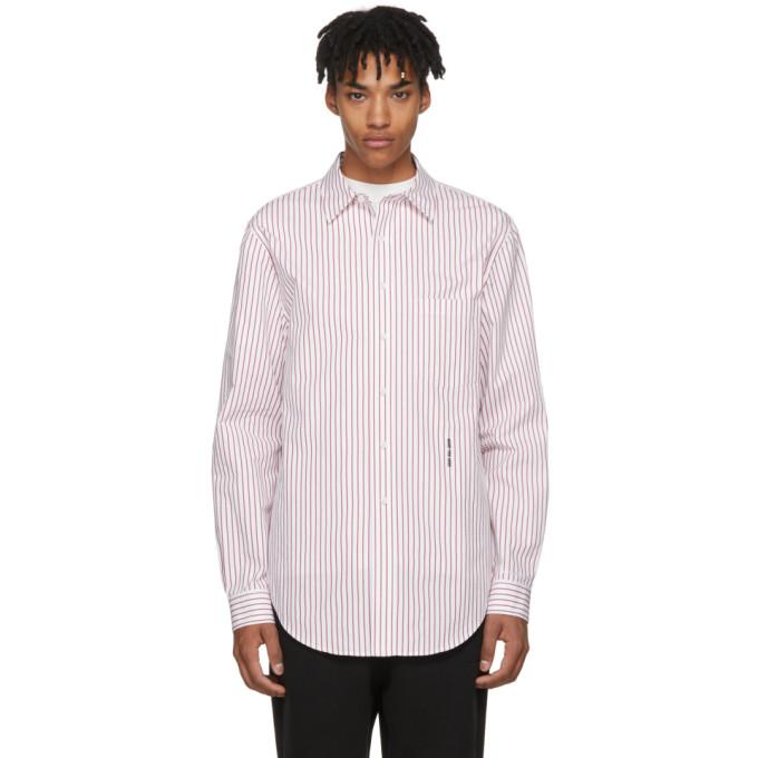 Alexander Wang White & Red Pinstripe NY Post Made You Look Shirt