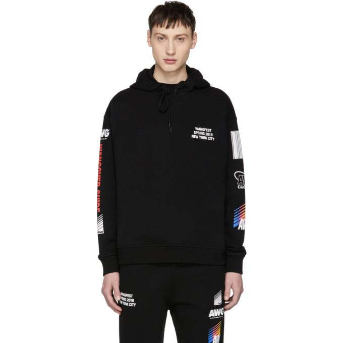 Alexander Wang SSENSE Exclusive Black Sponsored Hoodie