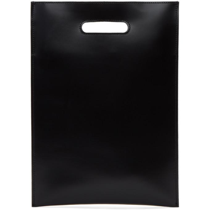 MM6 Maison Martin Margiela Black Calfskin Tote