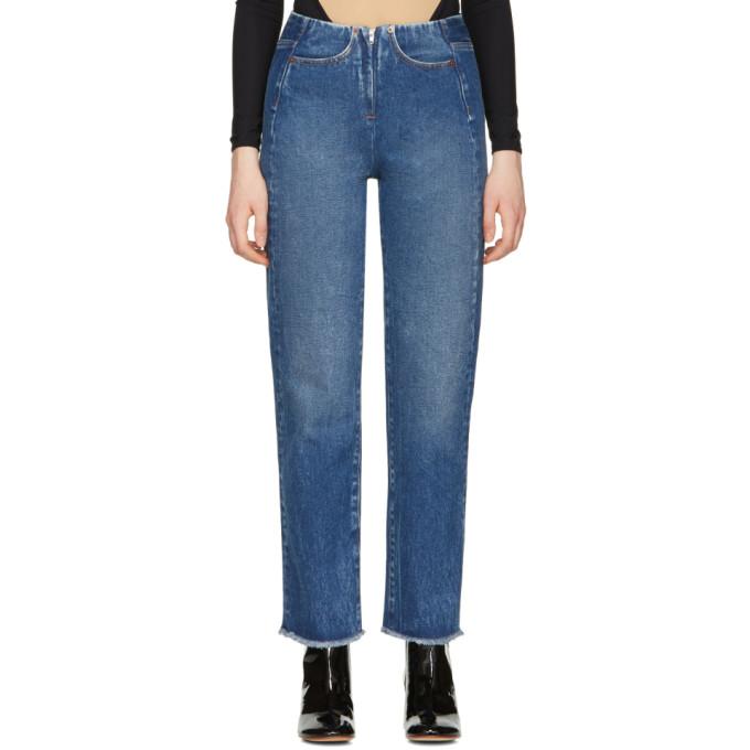 MM6 Maison Martin Margiela Blue Contrast Pocket Jeans