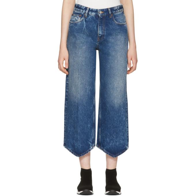 MM6 Maison Martin Margiela Blue Point Hem Jeans