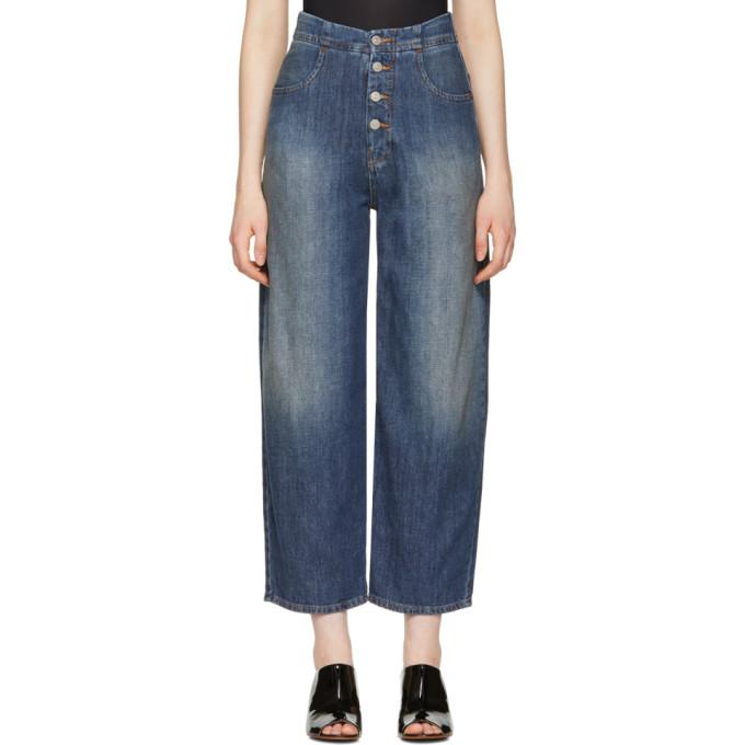 MM6 Maison Martin Margiela Blue 80's Wash Jeans