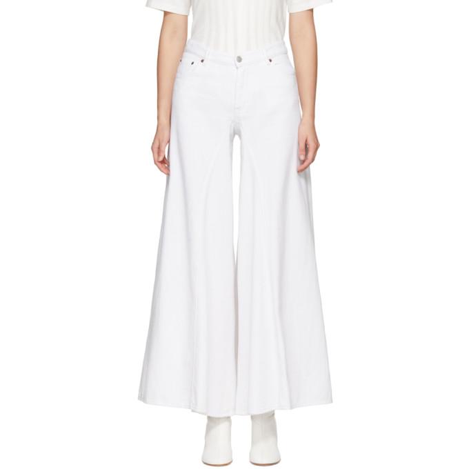 MM6 Maison Martin Margiela White Garment Dyed Jeans