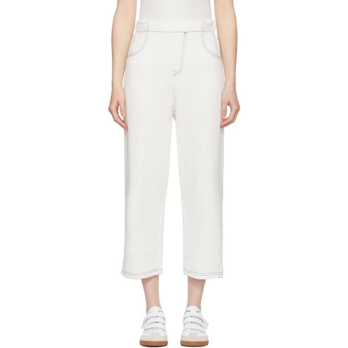 MM6 Maison Martin Margiela Off-White French Terry Lounge Pants