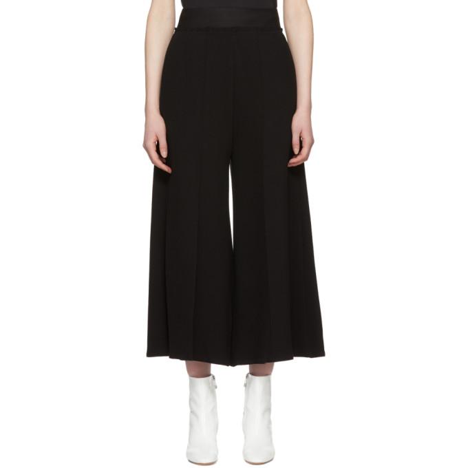 MM6 Maison Martin Margiela Black Twill High-Waist Trousers