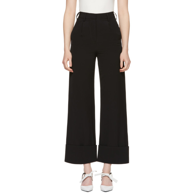 MM6 Maison Martin Margiela Black Dressy Suiting Trousers