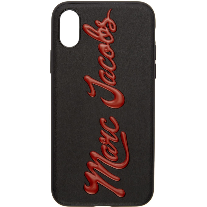 Image of Marc Jacobs Black Glossy Logo iPhone X Case