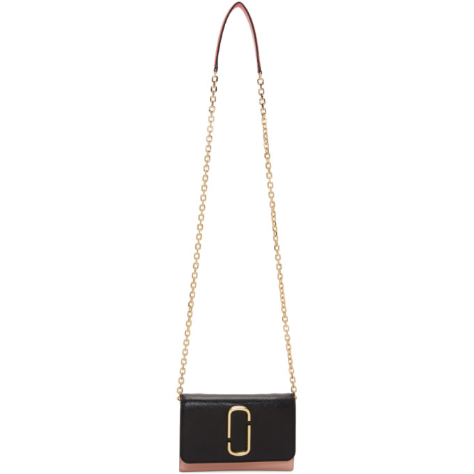 Marc Jacobs Black & Pink Chain Snapshot Bag