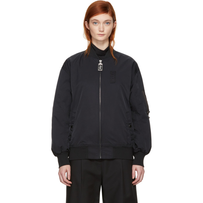 Marc Jacobs Black Nylon Bomber Jacket