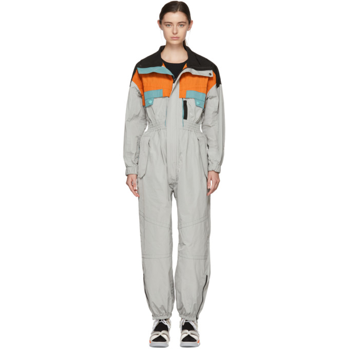 Marc Jacobs Grey Colorblocked Jumpsuit