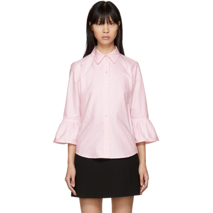 Marc Jacobs Pink Ruffle Sleeves Shirt
