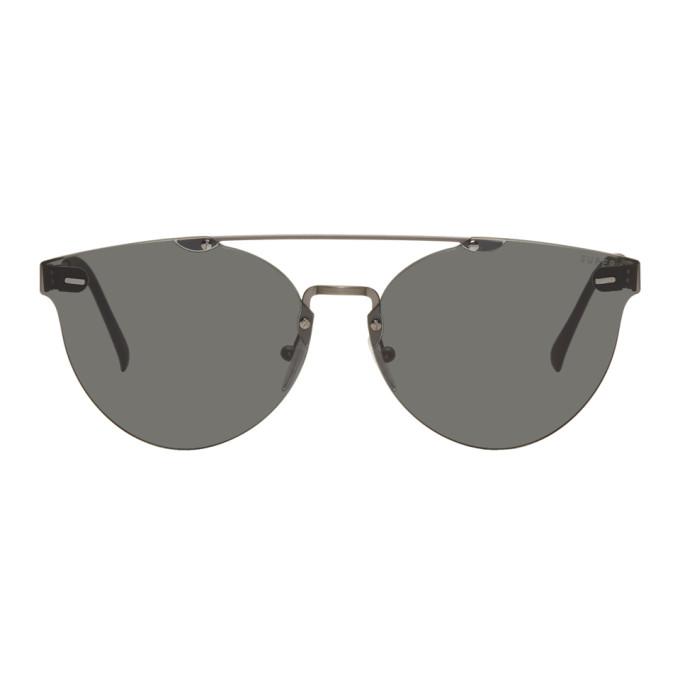 Image of Super Black & Gunmetal Tuttolente Giuagaro Sunglasses