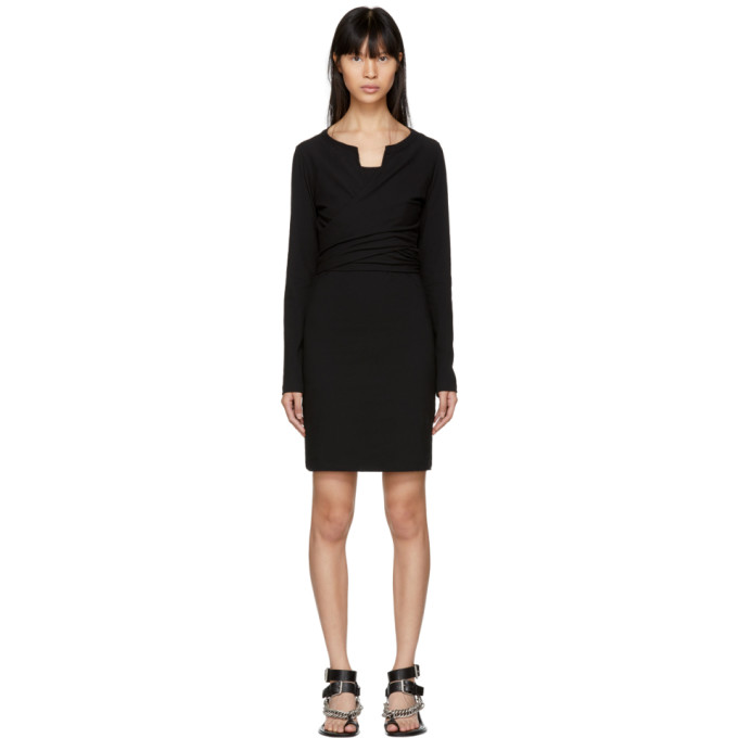 T by Alexander Wang Black High Twist Dress