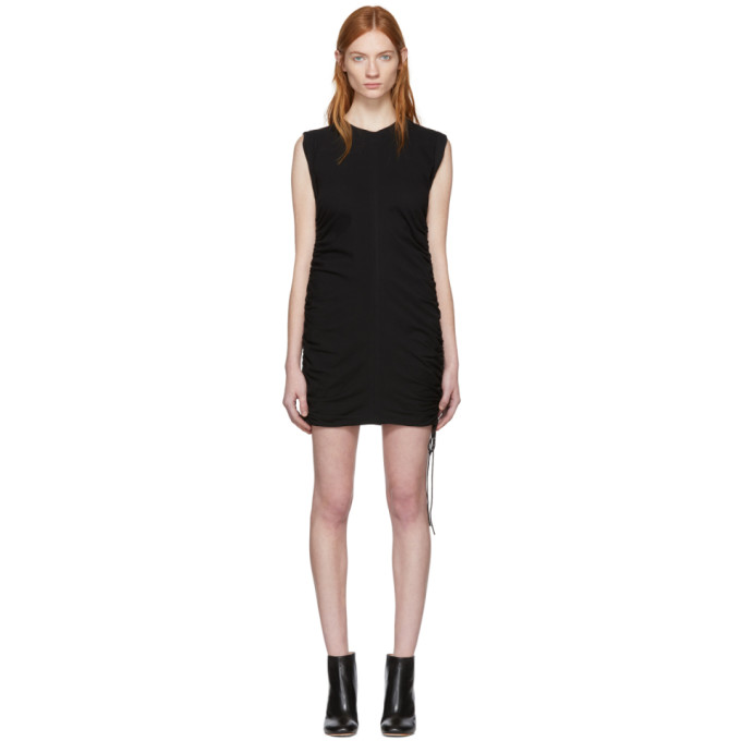 T by Alexander Wang Black High Twist Side Tie Dress