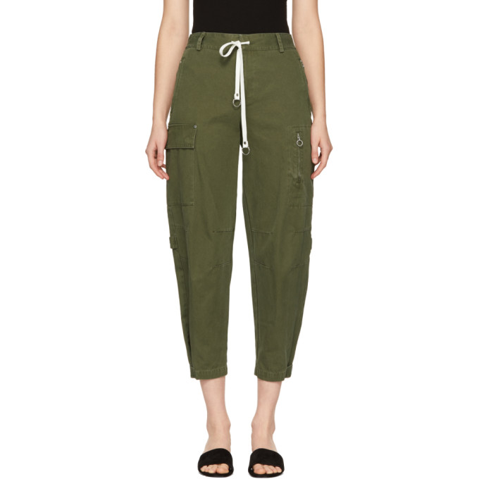 T by Alexander Wang Green Twill Cargo Pants