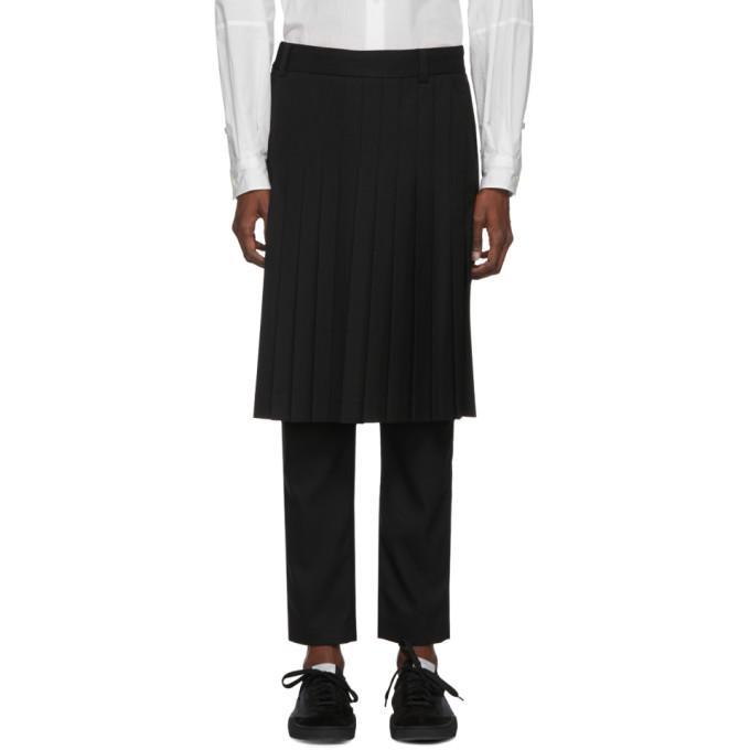 Image of Robert Geller Black Linus Pleated Trousers