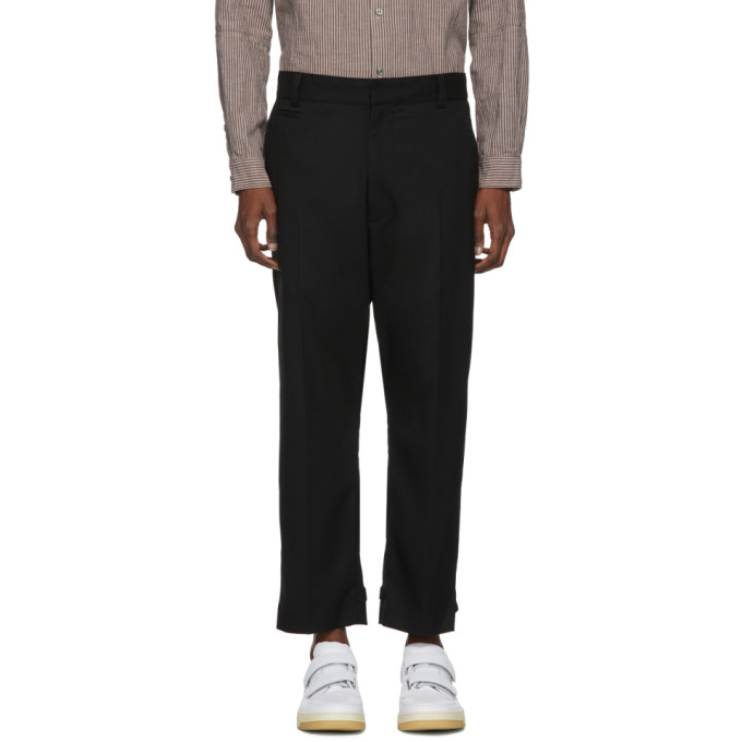 Image of Robert Geller Black Linus Trousers