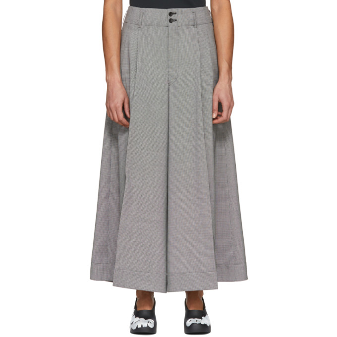 Image of Comme des Garçons Black & Off-White Wool Houndstooth Trousers