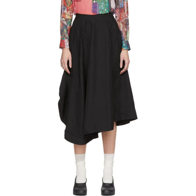 Image of Comme des Garçons Black Skewed Skirt