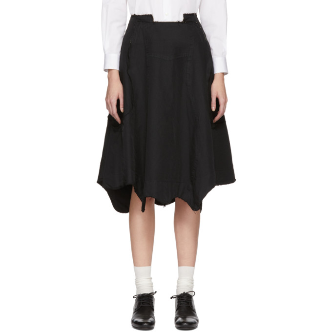 Image of Comme des Garçons Black Reconstructed Skirt