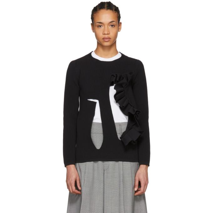 Image of Comme des Garçons Black Cutout Sweater