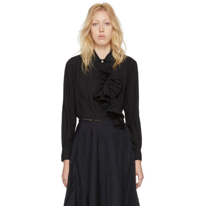 Image of Comme des Garçons Black Ruffle Shirt