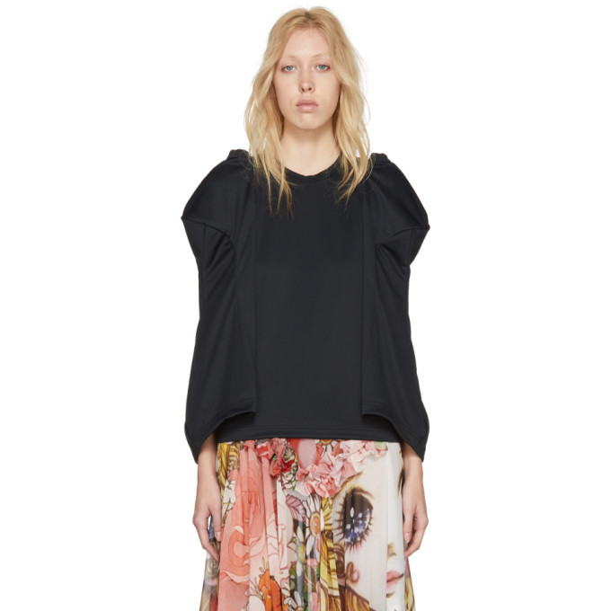 Image of Comme des Garçons Black Sculpted Sleeve T-Shirt