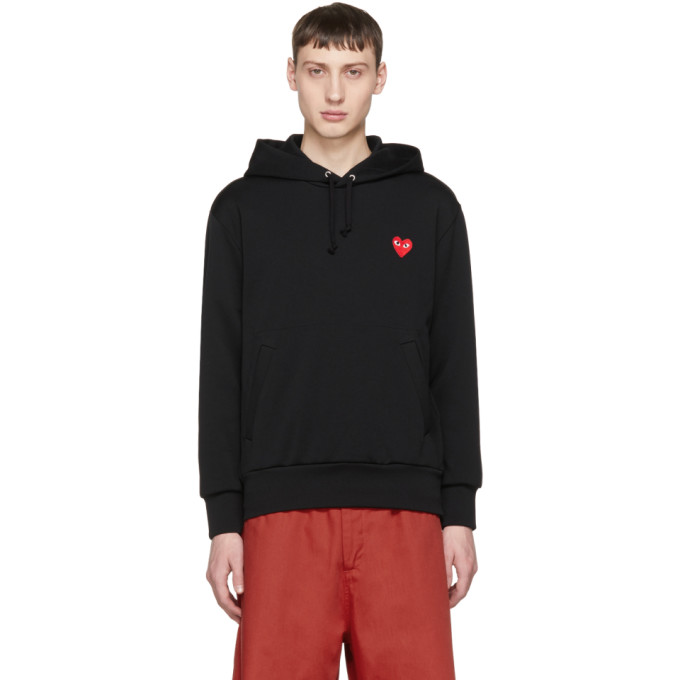 Image of Comme des Garçons Play Black Heart Patch Hoodie