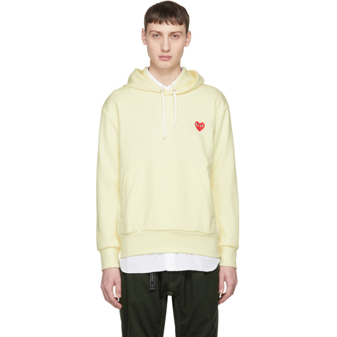 Comme des Garçons Play Off-White Heart Patch Hoodie