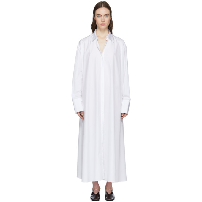 Jil Sander White Esteemed Shirt Dress