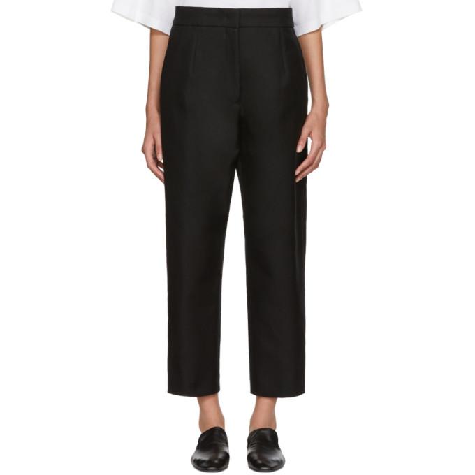 Image of Jil Sander Black Ellias Trousers