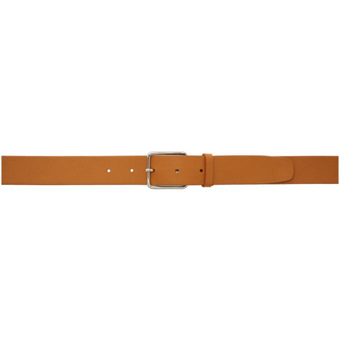 Jil Sander Brown Classic Leather Belt