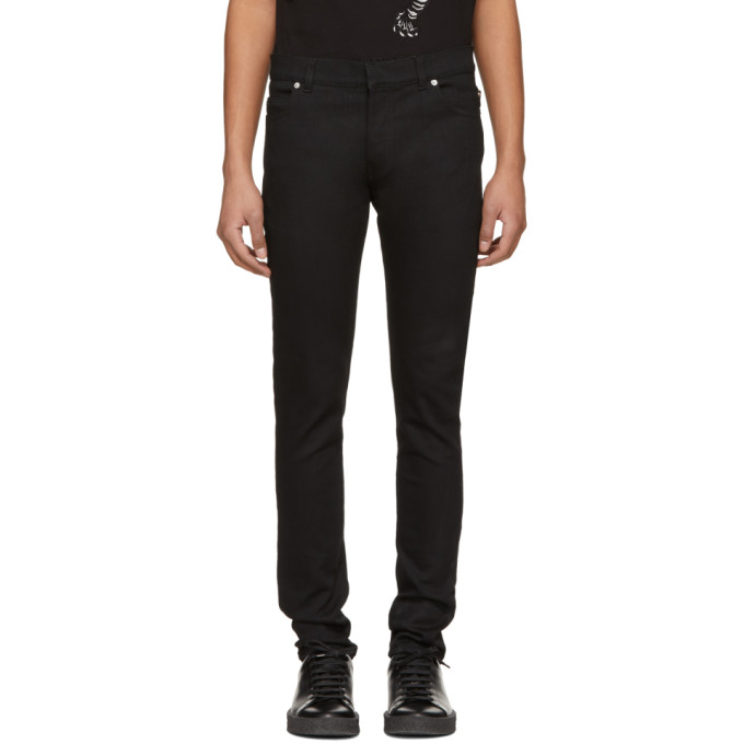 Balmain Black Six-Pocket Jeans