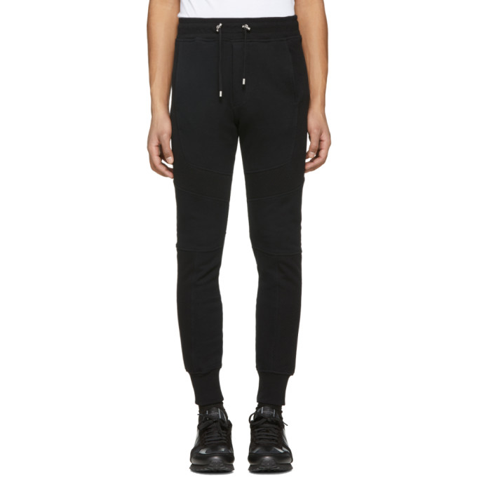 Balmain Black Panelled Lounge Pants